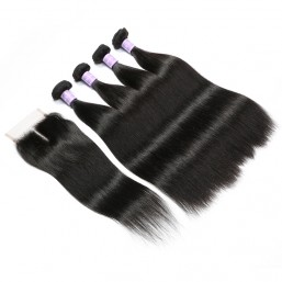 remy hair 4 bundle deals with closure
