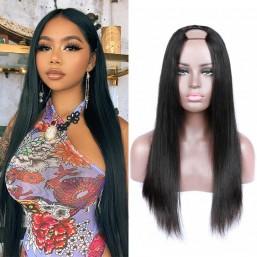 straight u part wig