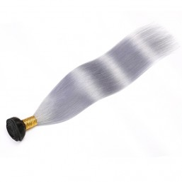 1 Bundle T1B/grey Ombre Straight Human Hair