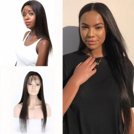 Straight Lace Front Wig with Baby Hair Remy Human Hair
