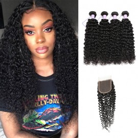 Jerry Curly Hair With Lace Closure