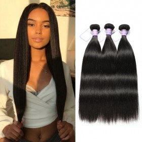 3 Bundles DSoar Hair Remy Straight Hair Best Virgin Human Hair Extensions