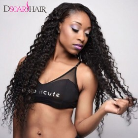 3pcs/pack DSoar Hair Deep Wave Brazilian Human Hair Weave