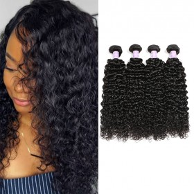 DSoar Hair Curly Hair Products 4 Bundles Virgin Human Hair
