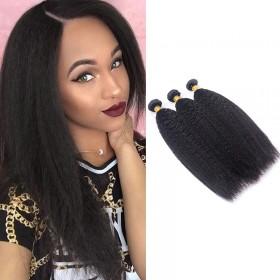 Best Brazilian Kinky Straight Hair 3 Bundles DSoar Virgin Hair Weave
