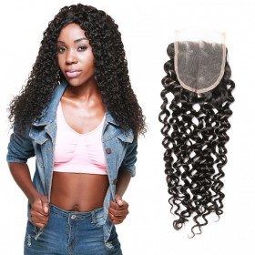 DSoar Hair Jerry Curly Human Hair Lace Closure