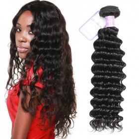 DSoar Hair 1 Pieces Deep Wave Human Virgin Hair Weaving