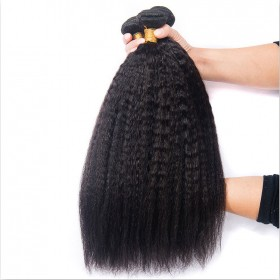 DSoar Malaysian Kinky Straight Hair Bundles 3Pcs/Pack Virgin Human Hair