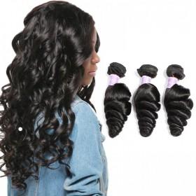 DSoar Hair Malaysian Loose Wave Human Virgin Hair 3 Bundles