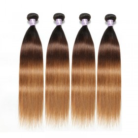 4Pcs/Lot DSoar Hair T1B/4/27 Three Tone Ombre Straight Virgin Hair