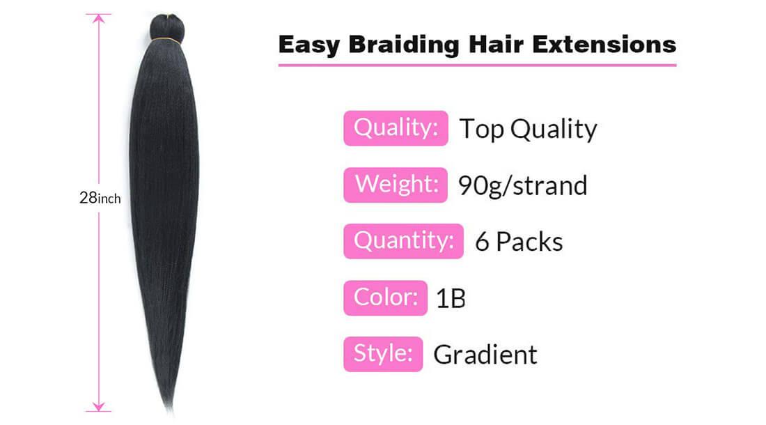 three-tone braid synthetic crochet hair extensions