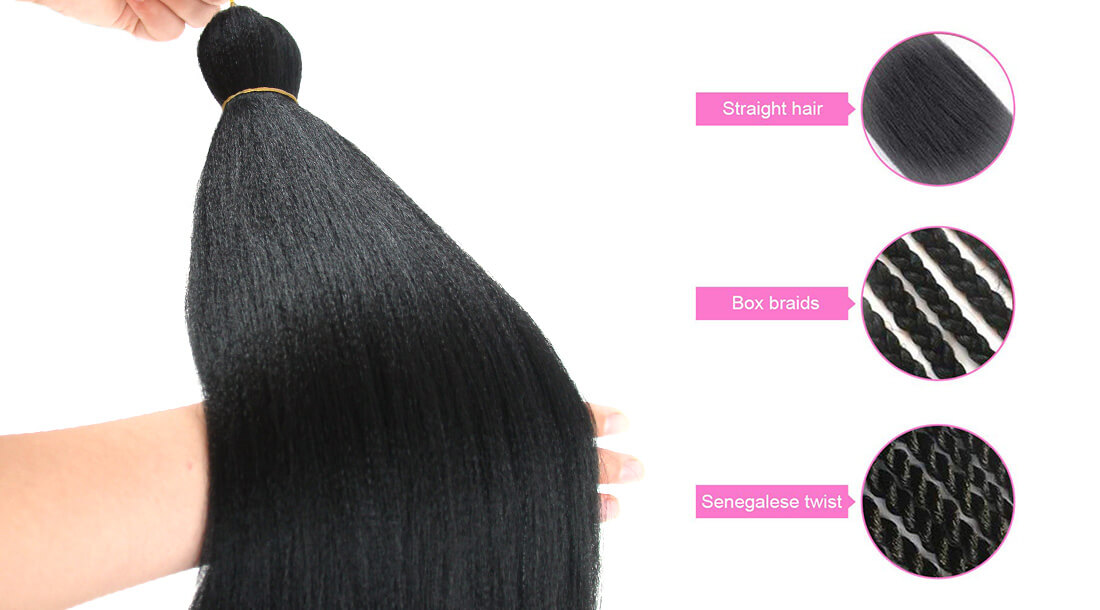ombre braid synthetic crochet hair extensions