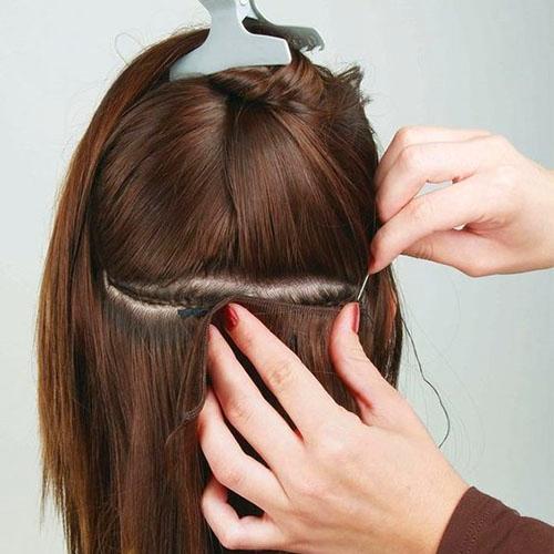 real human hair weft