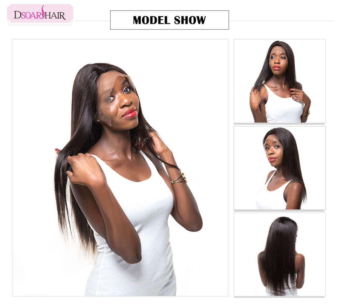 Straight Lace Front Wig with Baby Hair