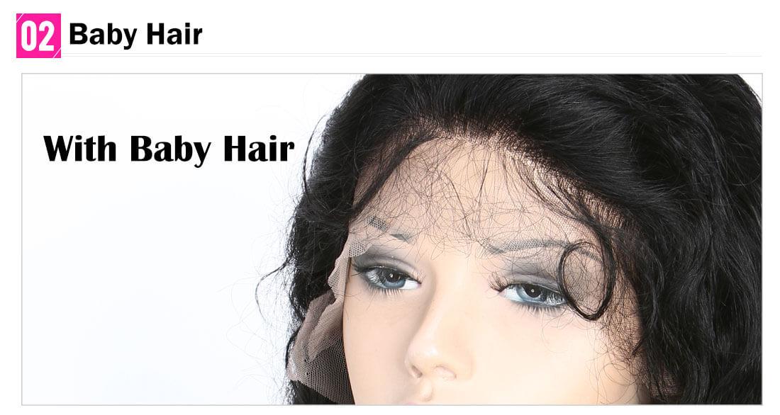 Deep Wave Virgin Human Hair Full Lace Wig