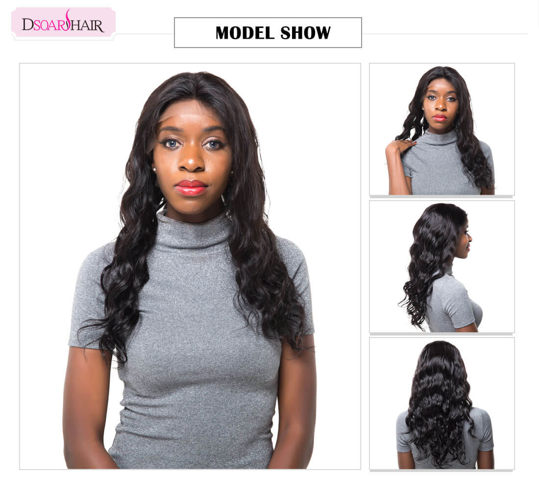 Natural Wave Virgin Human Hair Full Lace Wig