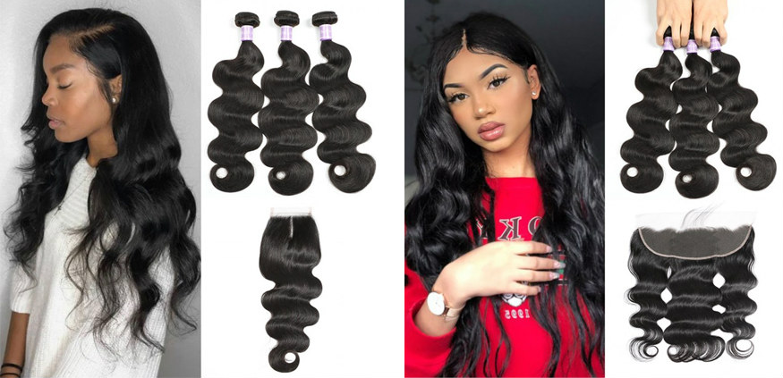 3 bundles with closure or frontal