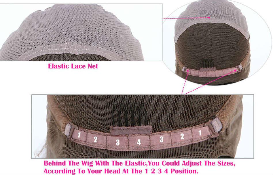 Adjustable full lace wig cap