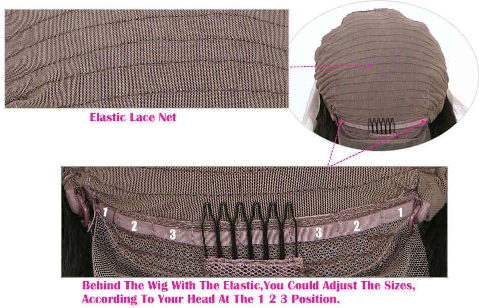 Adjustable transparent lace front wig