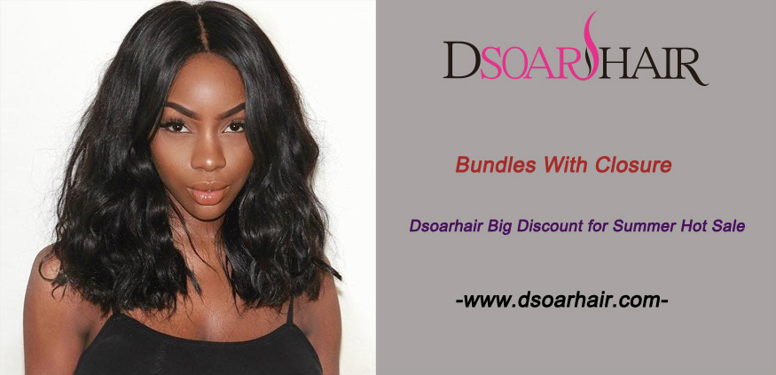 Bundles With Closure, Dsoarhair Big Discount for Summer Hot Sale