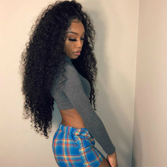 Curly weave human hair