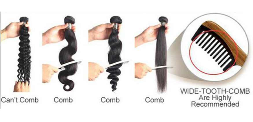 How to comb brazilian natural wave hair