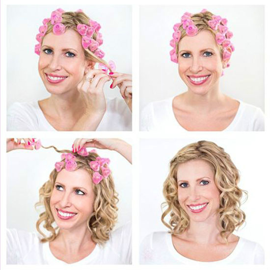 How to curl the body wave hair by hair rollers