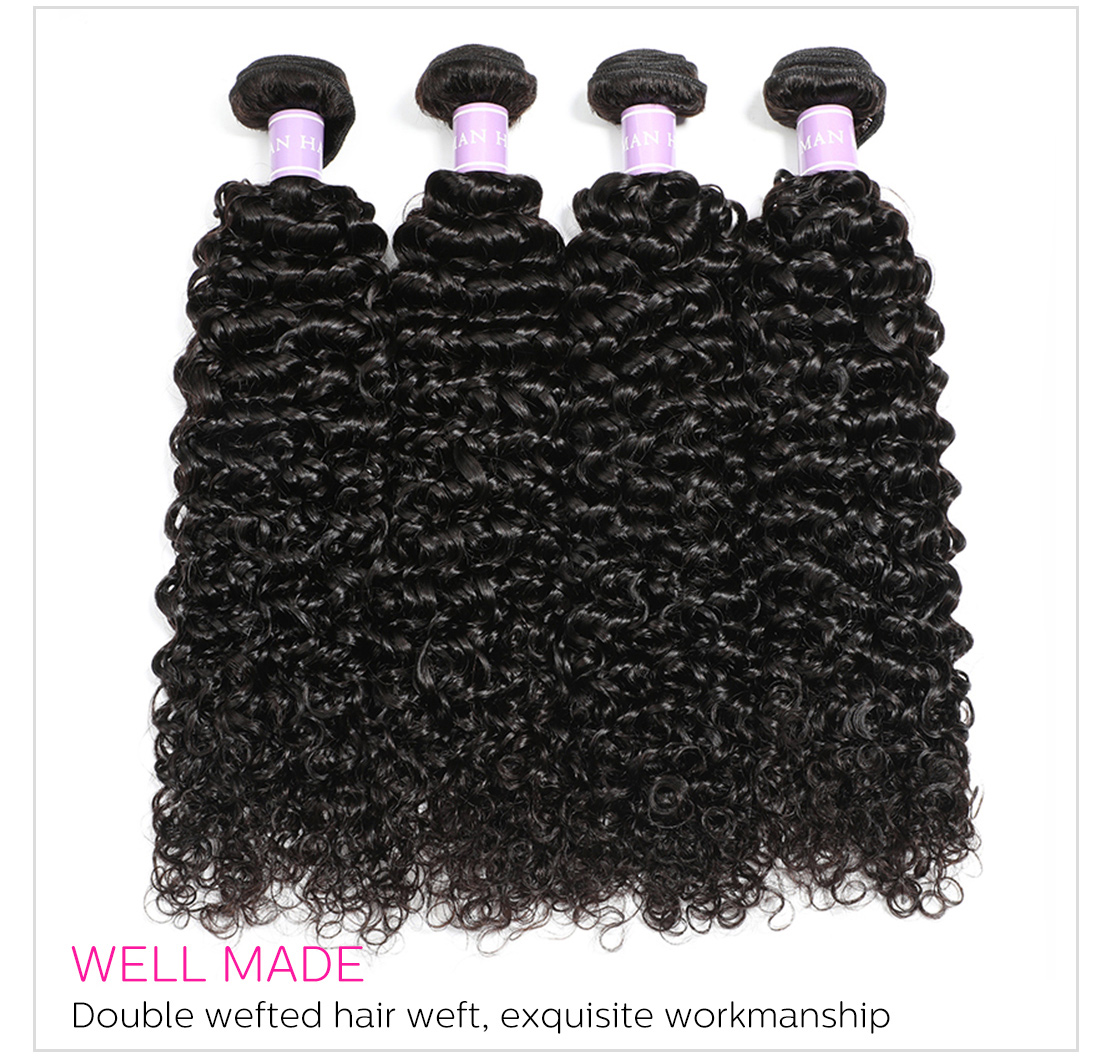 Malaysian curly hair weaving