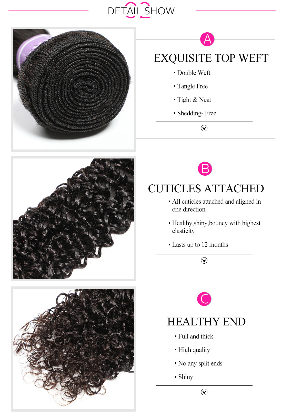 virgin Malaysian curly hair