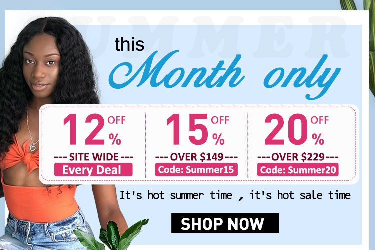 Big discount for human hair closure