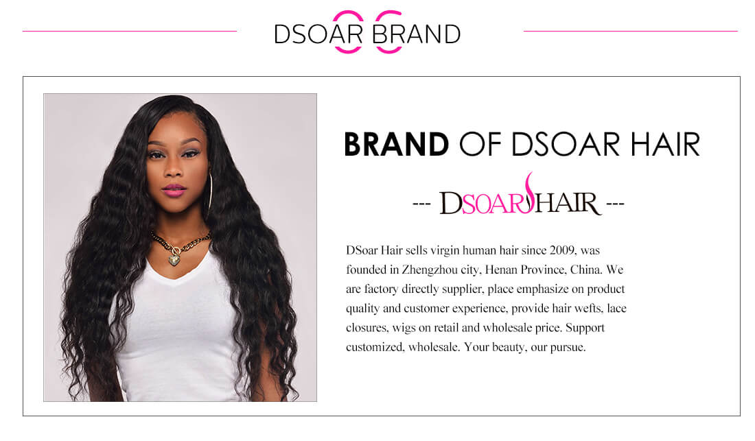 DSoar Ombre Colored Remy Human Hair