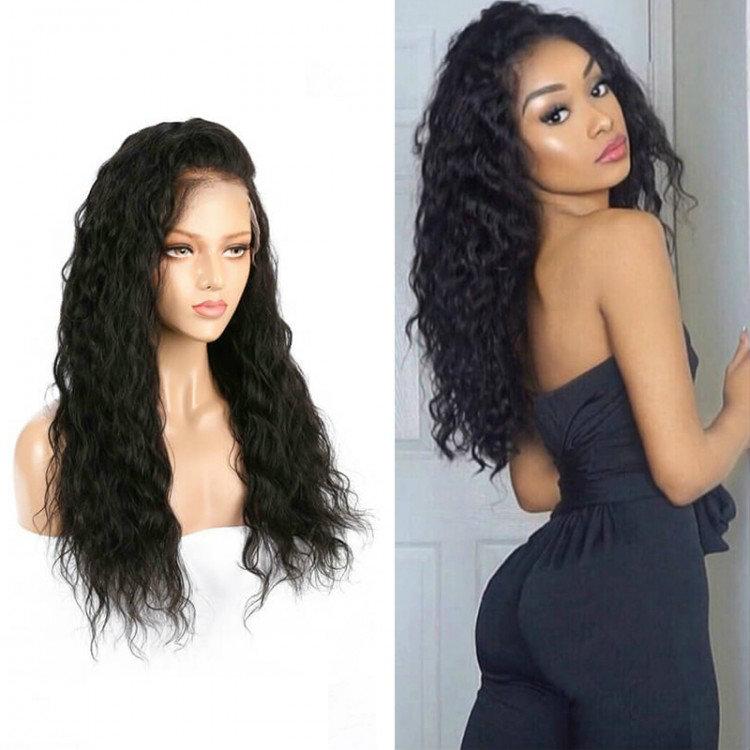 Transparent Lace 100% Virgin Human Hair Wigs
