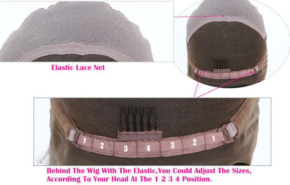 adjustable transparent lace front wig capsize