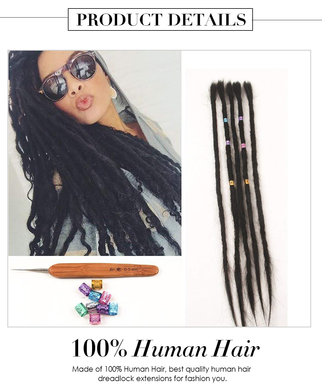 Dreadlock Extensions Human Hair