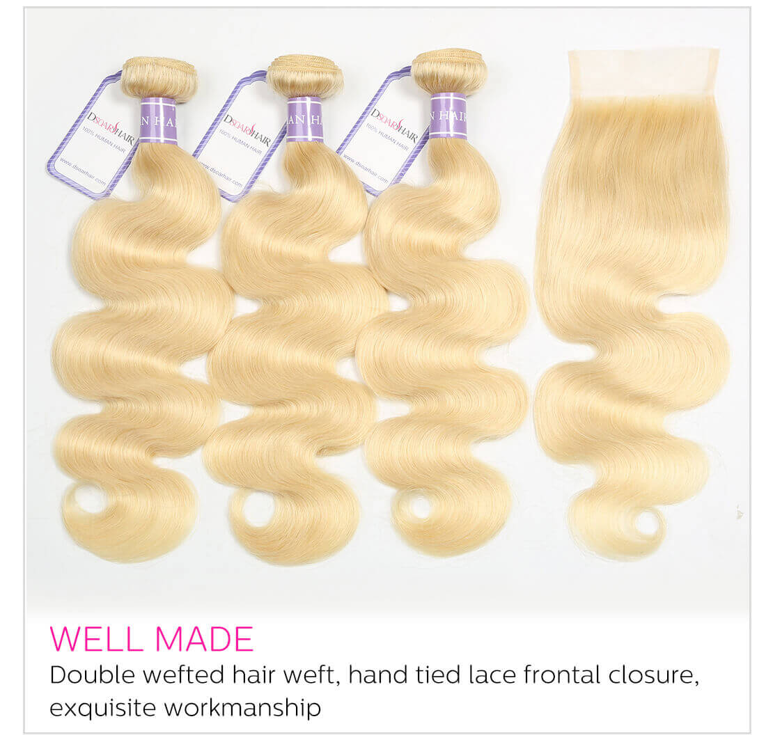 DSoar Hair 613 Blonde Body Wave Hair