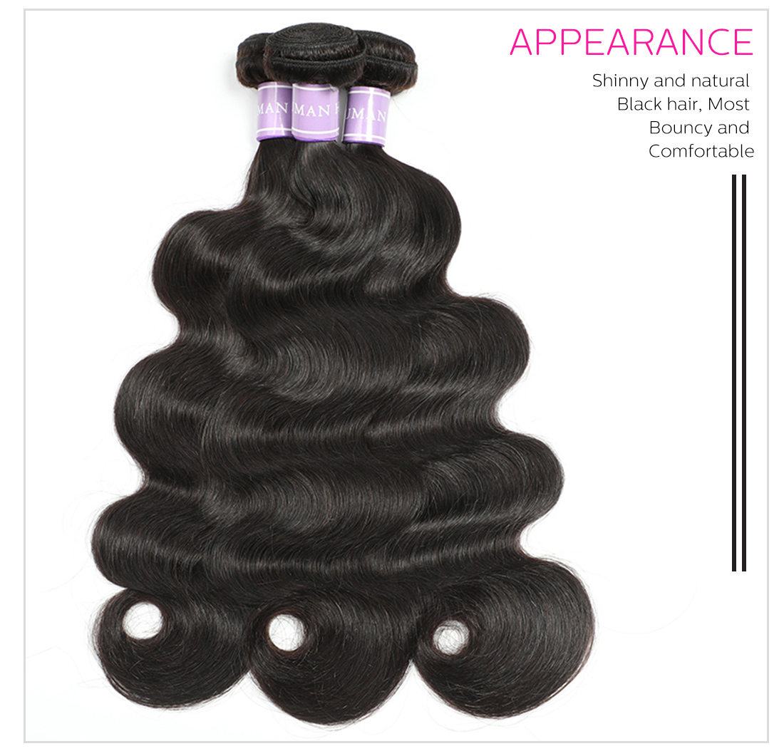 Brazilian human hair weaves