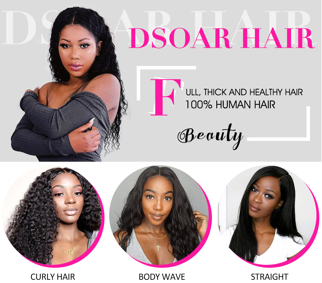 Indian Deep Wave Human Hair 3 Bundles With Lace Closure