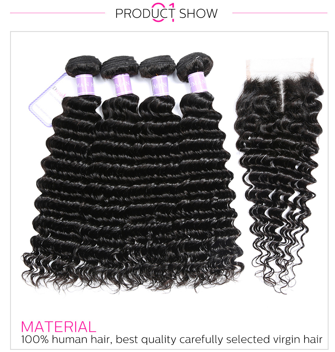 hair bundles with lace closure