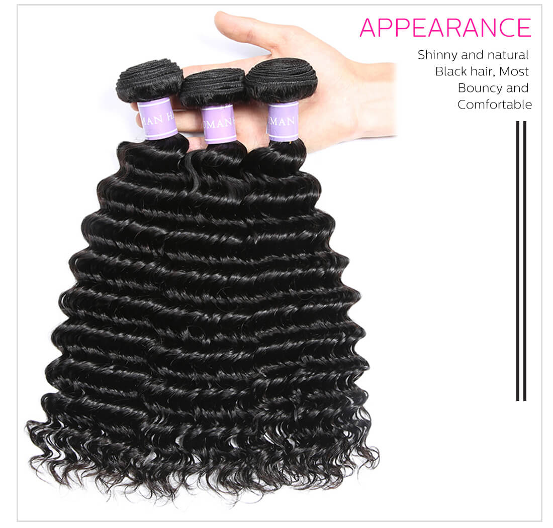 hair weaves Brazilian deep wave