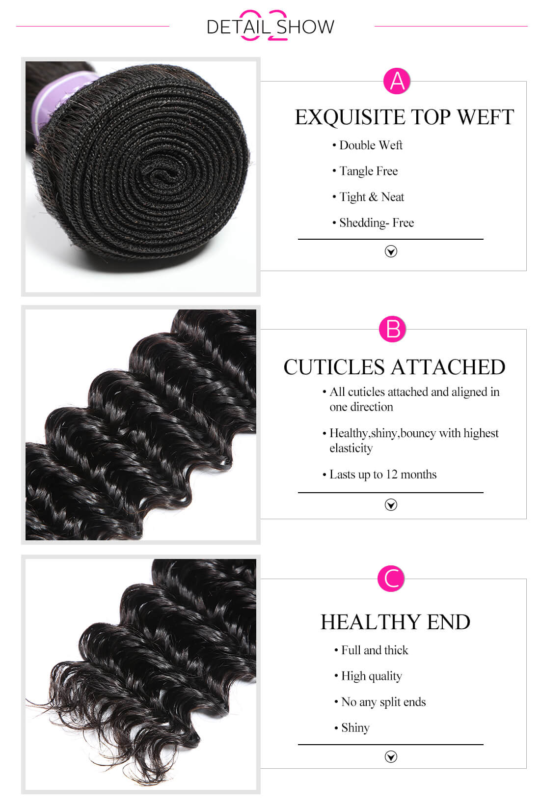 virgin remy deep wave 4bundles