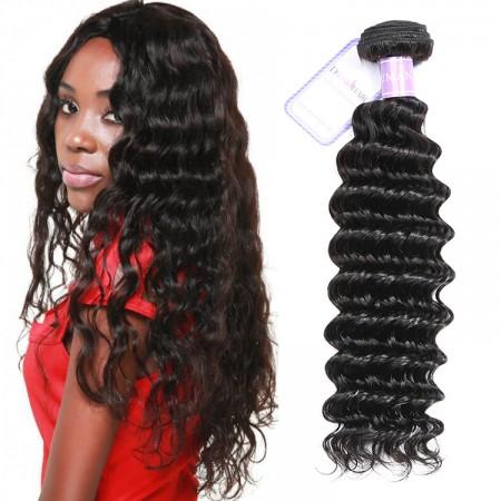 1 Pieces Deep Wave Human Virgin Hair Weaving