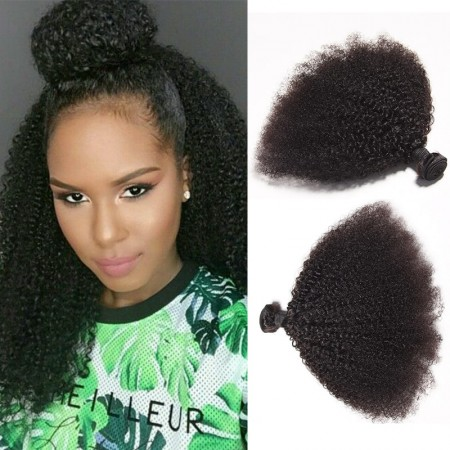 Afro Kinky Curly 2 Bundles Human Hair Weave