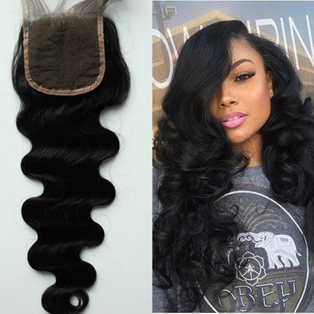 free part human hair closure