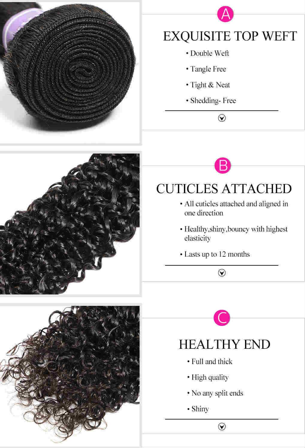 high quality human hair weave