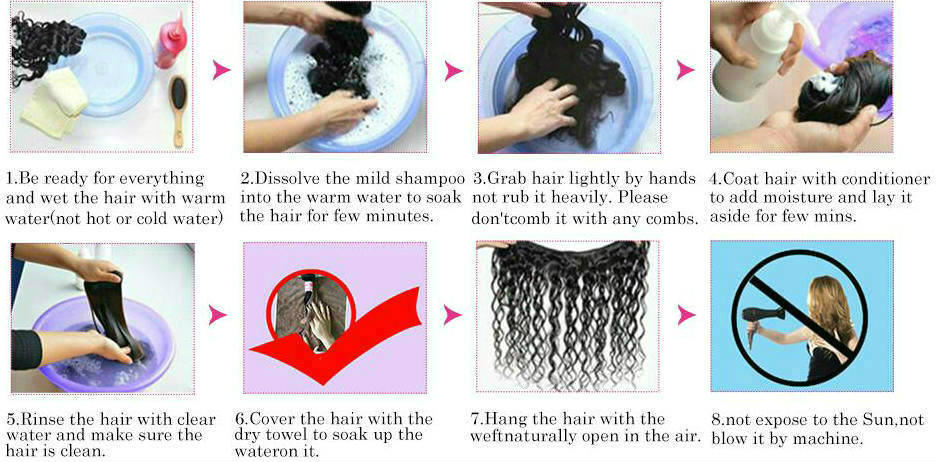 how to wash the 13x6 lace front wig