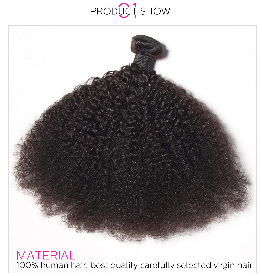 Afro kinky curly hair bundles