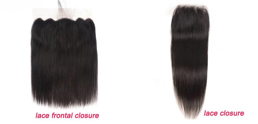 lace frontal closure VS lace closure