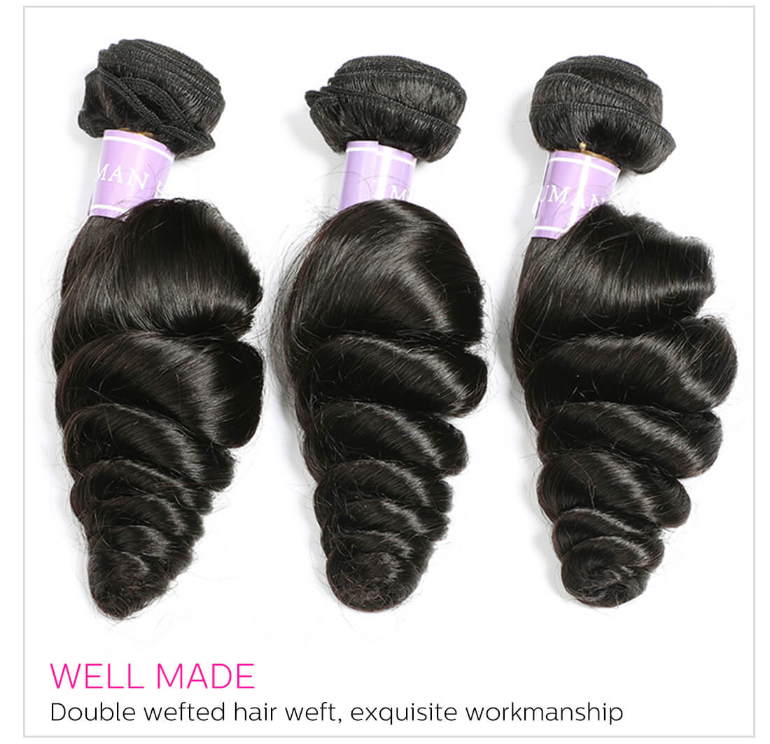 loose wave virgin hair bundles
