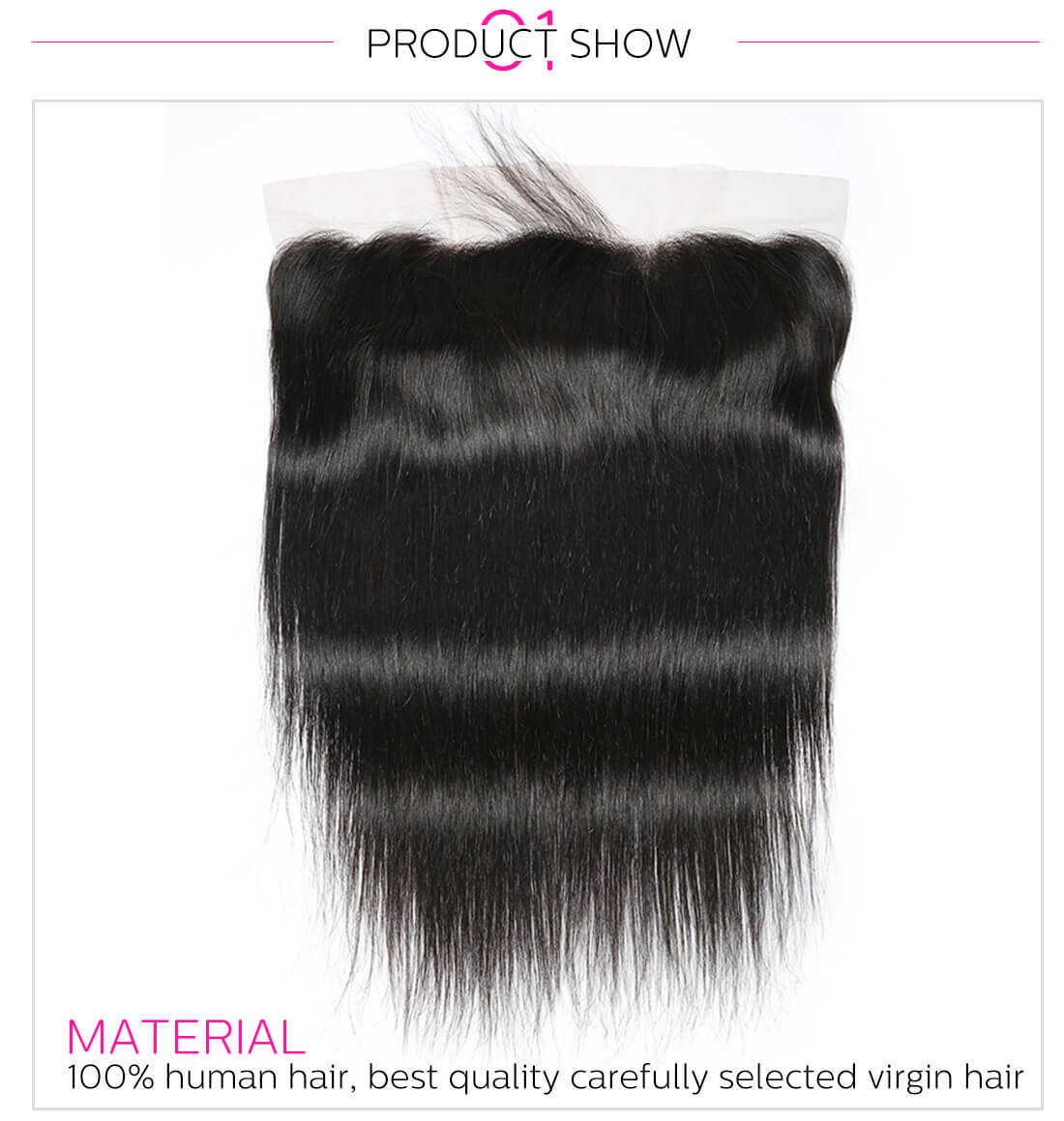 DSoar human straight human hair bundles with frontal