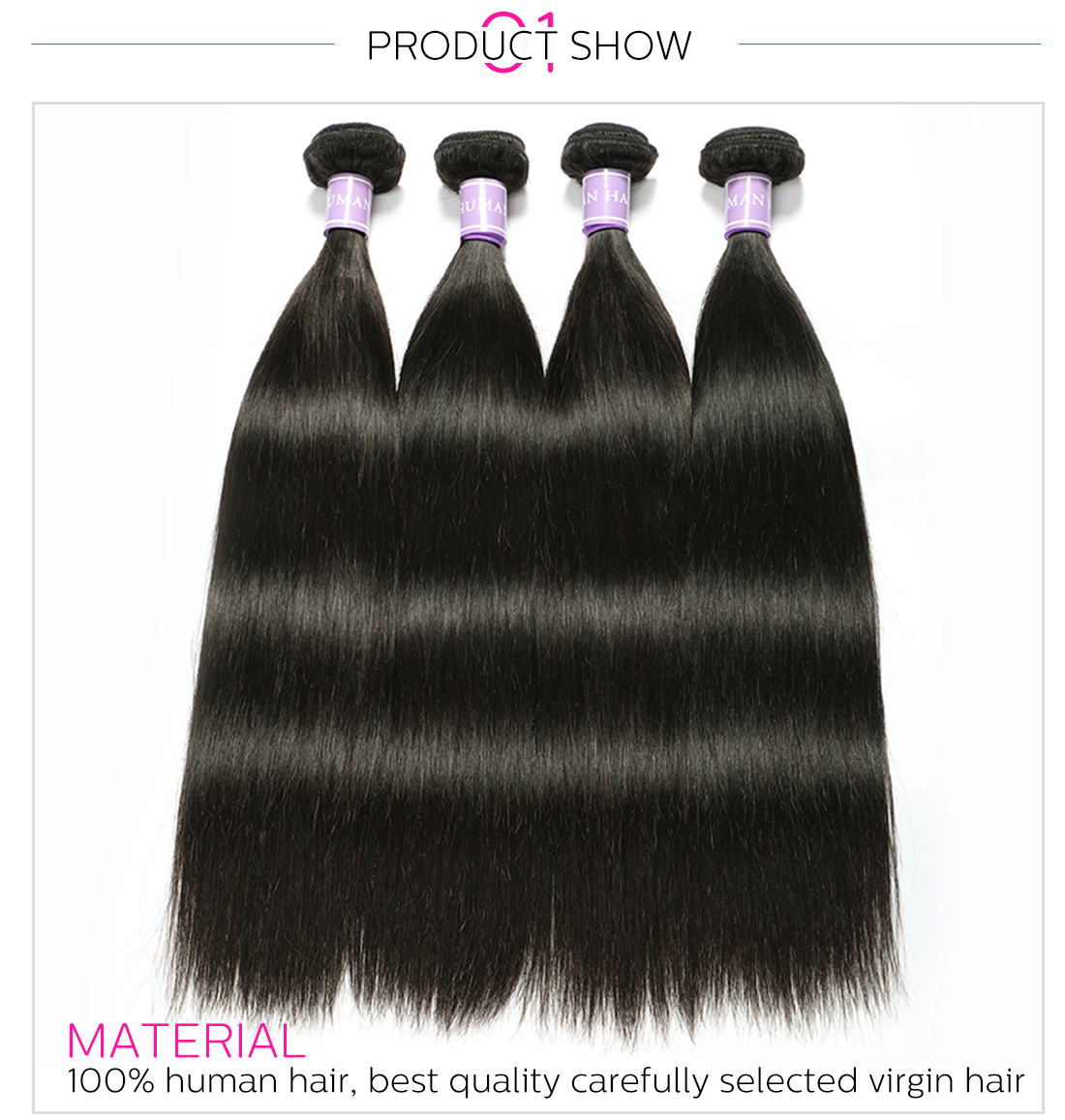Indian virgin hair straight
